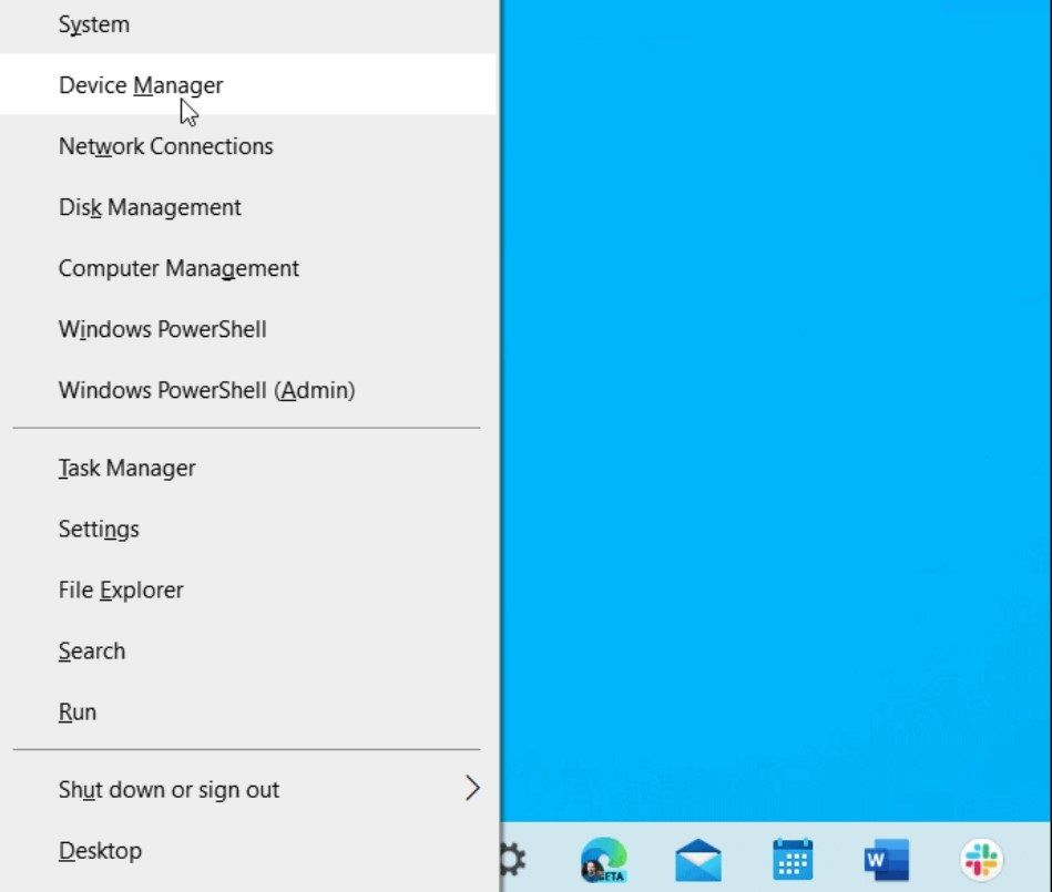 Right click on the start menu.