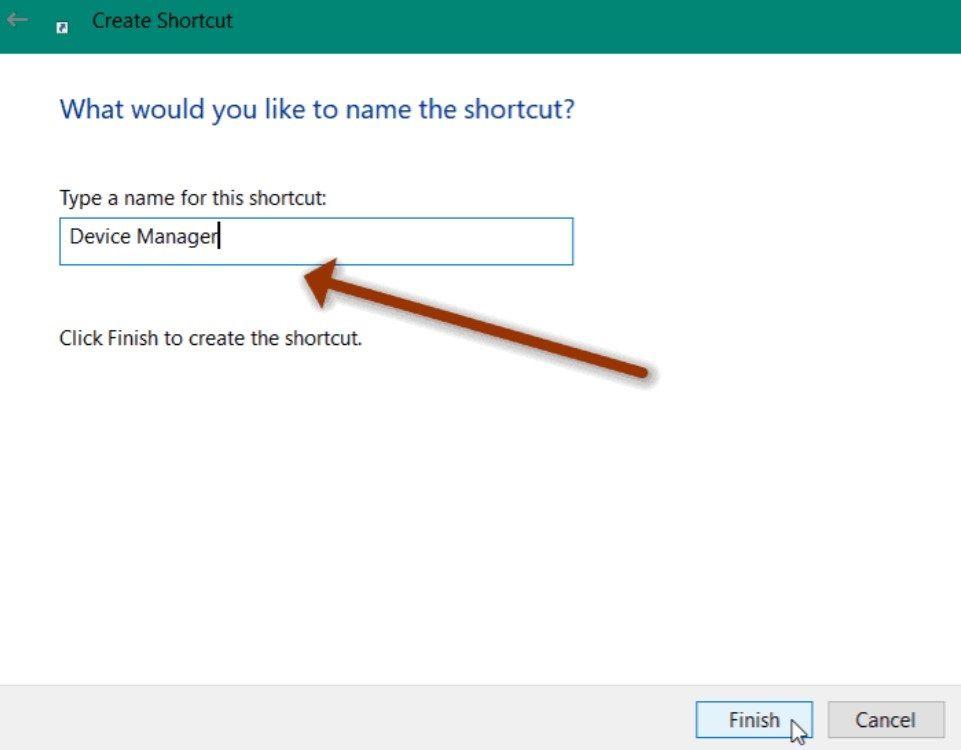 Configure the custom shortcut name.