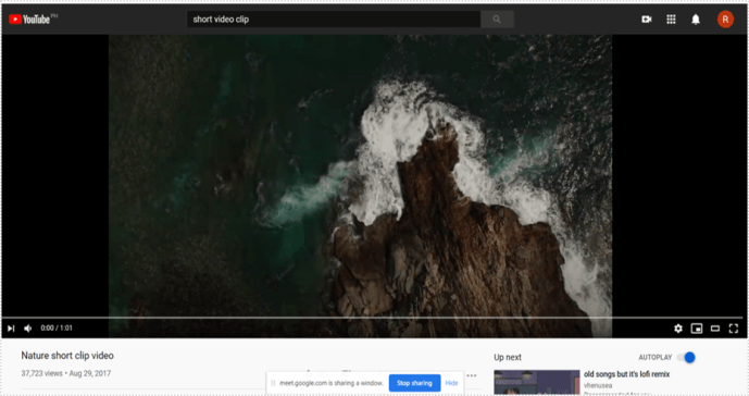 This is how we can share the audio from Google Meet.