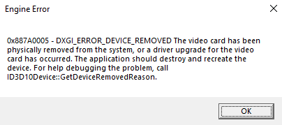 DXGI Device Blocking Error