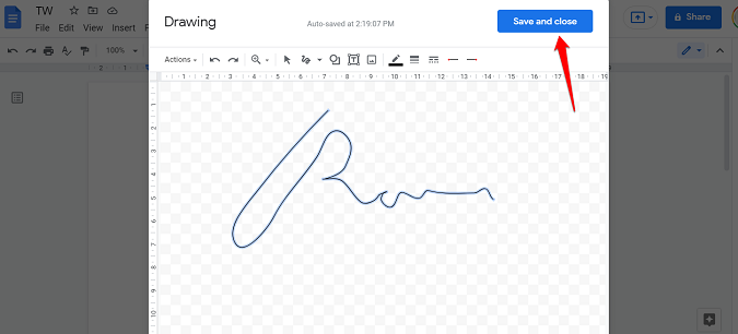 add mark to pdf file opened with google docs