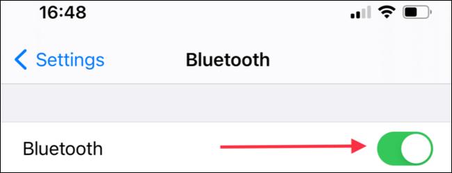 We activate Bluetooth.
