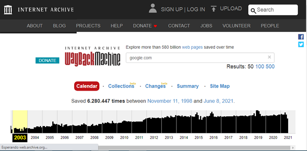 How to Enter a Full, Closed, Crashed, or Crashed Webpage with the Wayback Machine