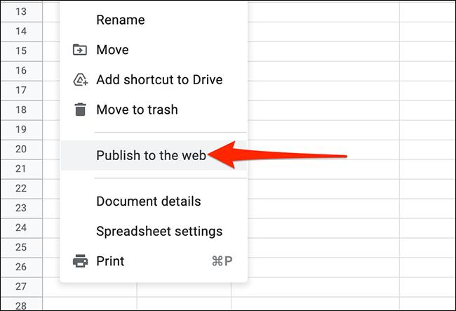 Options de configuration Google Sheets.