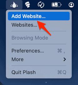 Add a website.