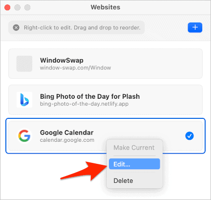 Edit the site calendar.