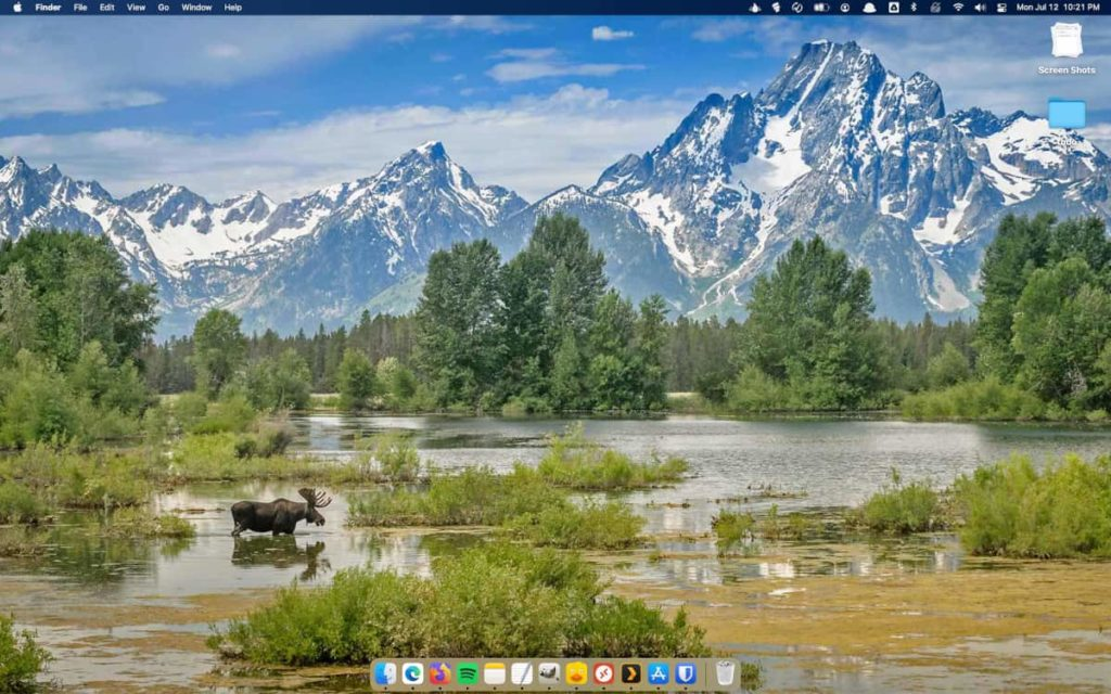 Photo of the day from the Bing site in the background on macOS.