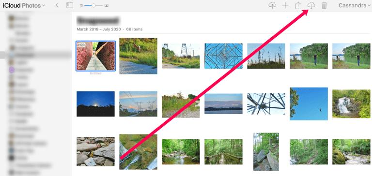 Nous téléchargeons la photo depuis iCloud Photos.
