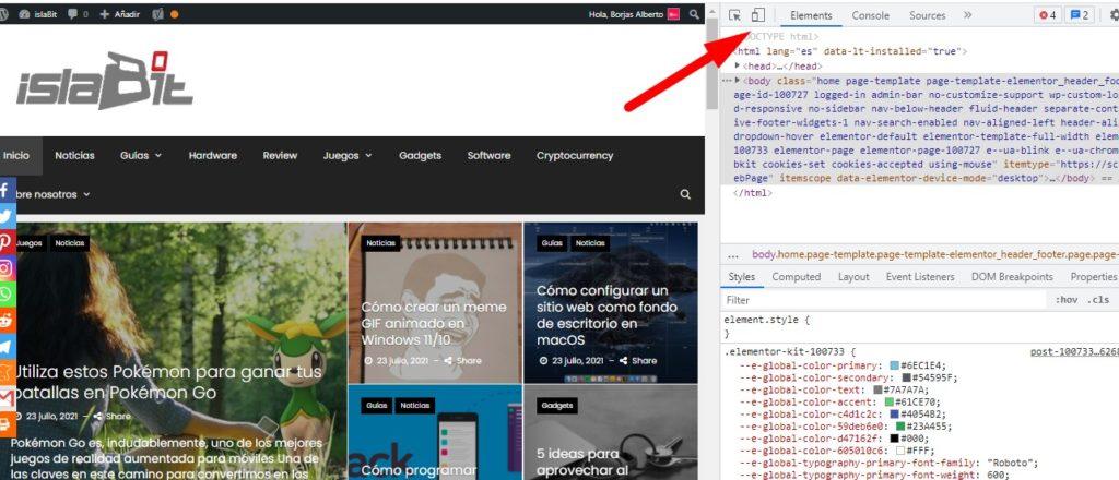 Configurez un site Web mobile sur votre ordinateur.