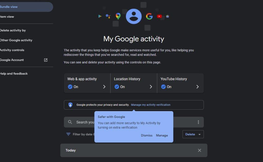 Mon mot de passe d'activité Google 2