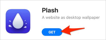 Download Plash to set up a background website on macOS.