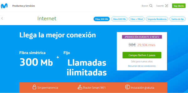 How to check if you have fiber blanket in Movistar