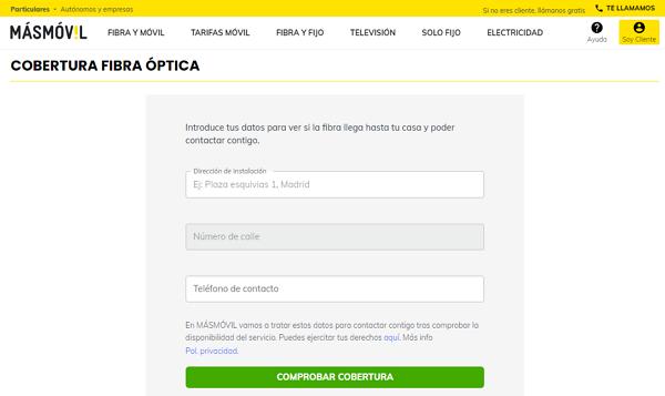 How to check if you have fiber blanket in MásMóvil