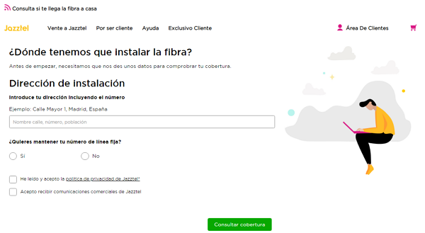How to check if you have fiber coverage in Jazztel