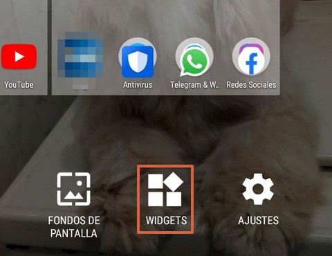 How to add widgets from the screen step 2