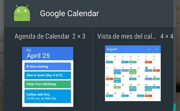 How to add widgets to display the calendar