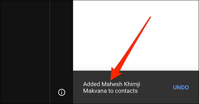 Contact added.