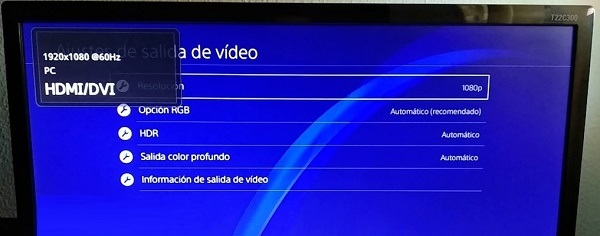 Change screen resolution manually on PS4