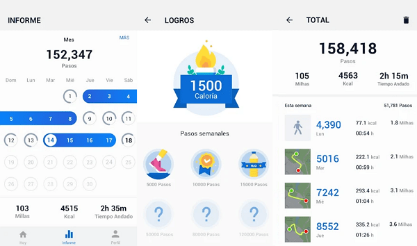 Pedometer - Free calorie and step counter
