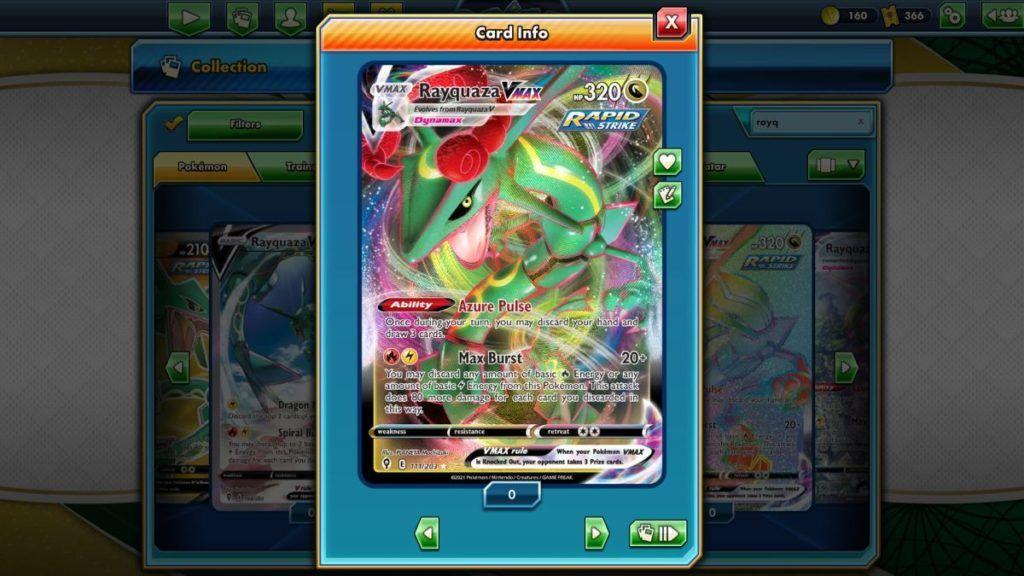 Pokemon TCG Online Evolving Skies Rayquaza VMAX
