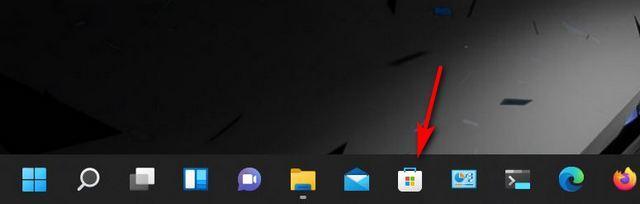 Ouvrez Microsoft Store à partir de la barre des tâches.