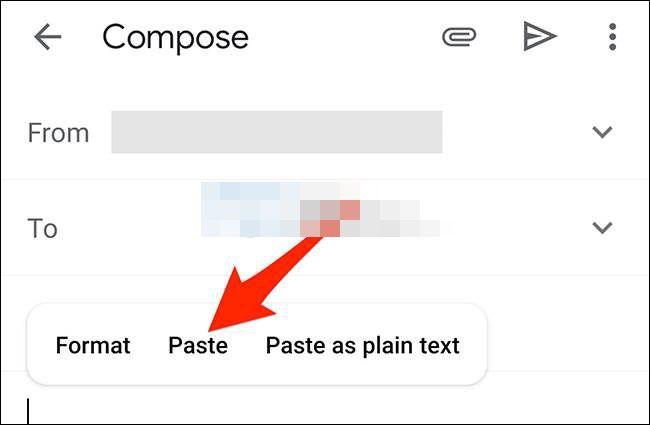 De cette façon, nous avons réussi à insérer un tableau dans un e-mail Gmail.