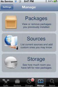 Navigate to Cydia-Sources