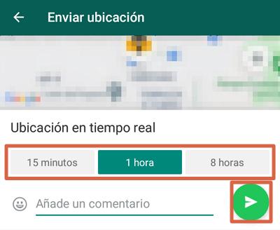 Comment envoyer l'emplacement en temps réel directement depuis WhatsApp étape 3